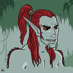 Horny - Trollguy bust by bloodyinkpen