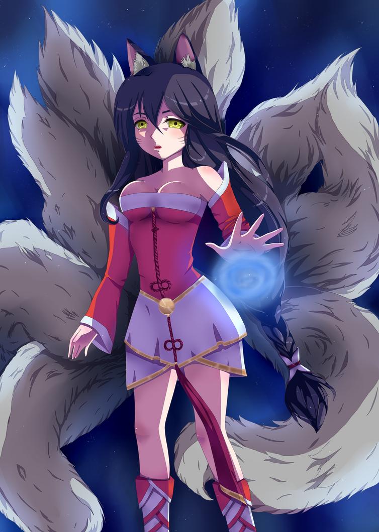 League of Legends- Ahri by Maya-nyan