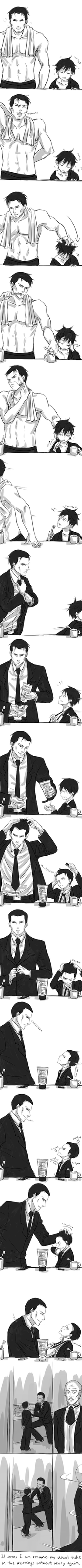 Dick Grayson and Bruce Wayne (THIS IS NOT MINE) by masuba