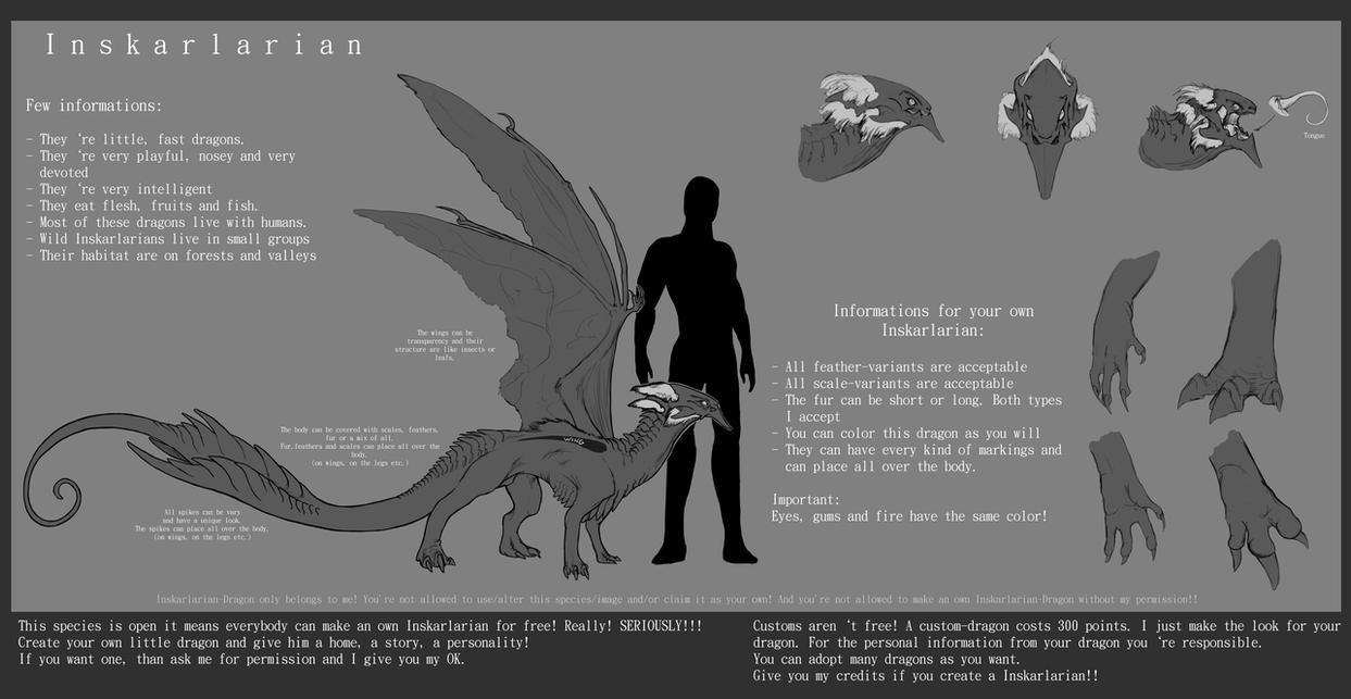 inskarlarian dragon free adopt by nightwing kain on deviantart