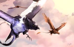 [ Daius-Tribute ] Morning flight by Nightwing-Kain