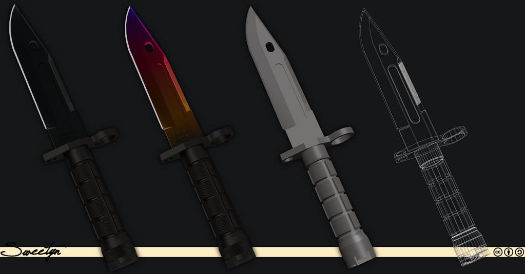 M9 Bayonet 3D Model Download By Sweetyn On DeviantArt