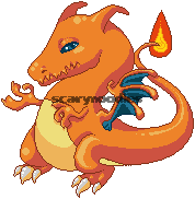 Pixel Charizard by scarynoodles