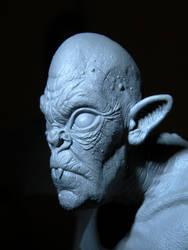 1/6 scale sculpey bat creature by jesserubin
