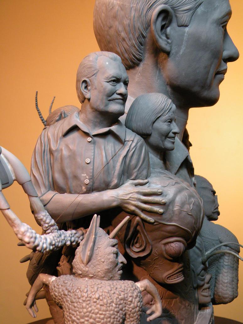 Paul Blaisdell tribute bust. by jesserubin