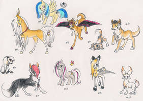Adoptables 5 by Lilafly