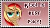 Kiddi is best pony - stamp by Lilafly