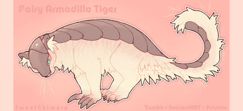 OPEN - Fairy Armadillo Tiger Adopt by BYTE-Beast