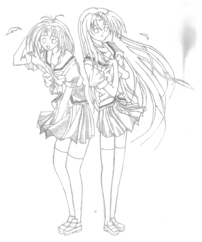 bff anime coloring pages
