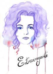 Helena Bonham Carter - Aquarelle by Dunklayth