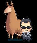 chibi-llama art for me by vollyy