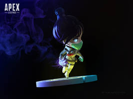 Apex Legends - Wraith 3D fan art [Quarantine 722] by iamtokotoko