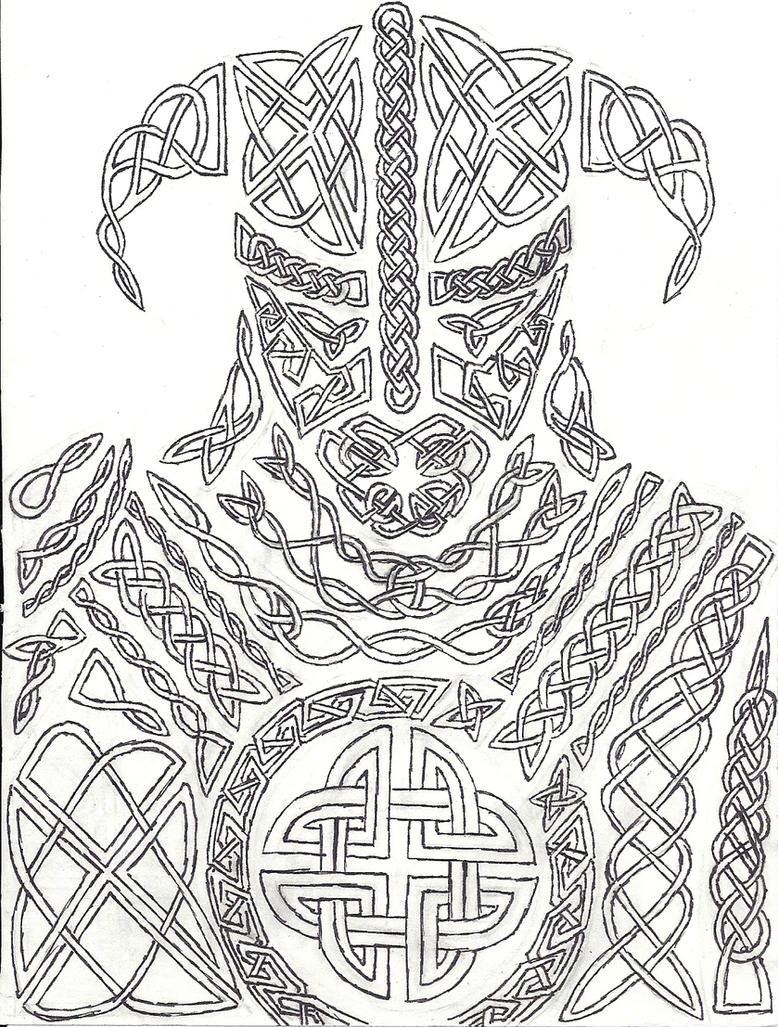 knotwork dovahkiinahairybastard on deviantart
