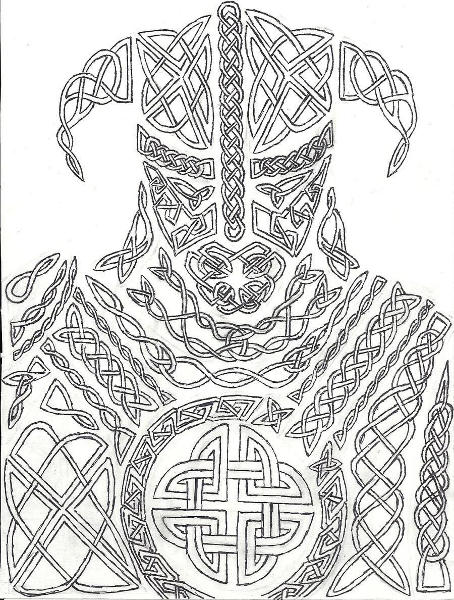 Knotwork Dovahkiin by AHairyBastard