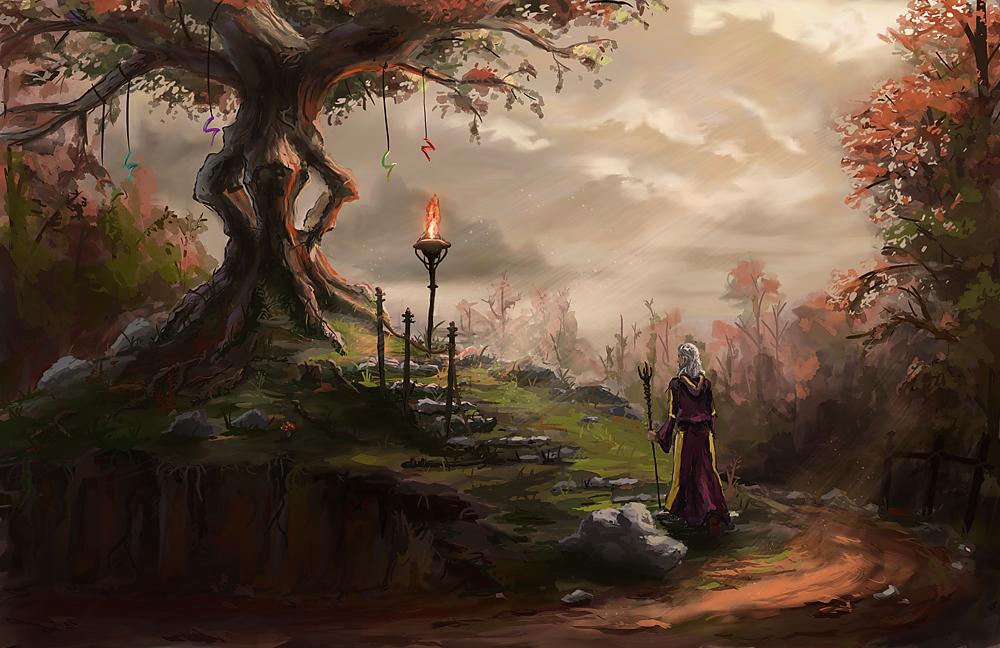 Sacred Tree by ThroughSpaceAndTime