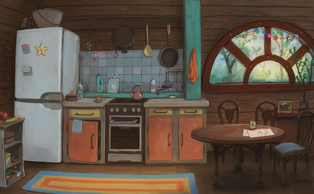 Kitchen by ThroughSpaceAndTime