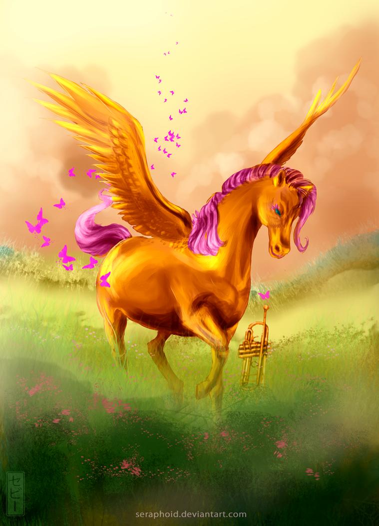 Fluttershys Gift by Seraphoid