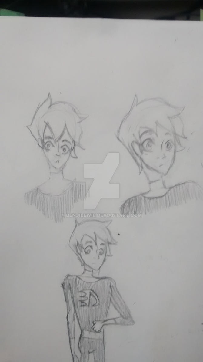 Danny Phantom Doodles by Benjilewie