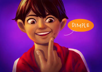 Dimple, no dimple. by Marlitza