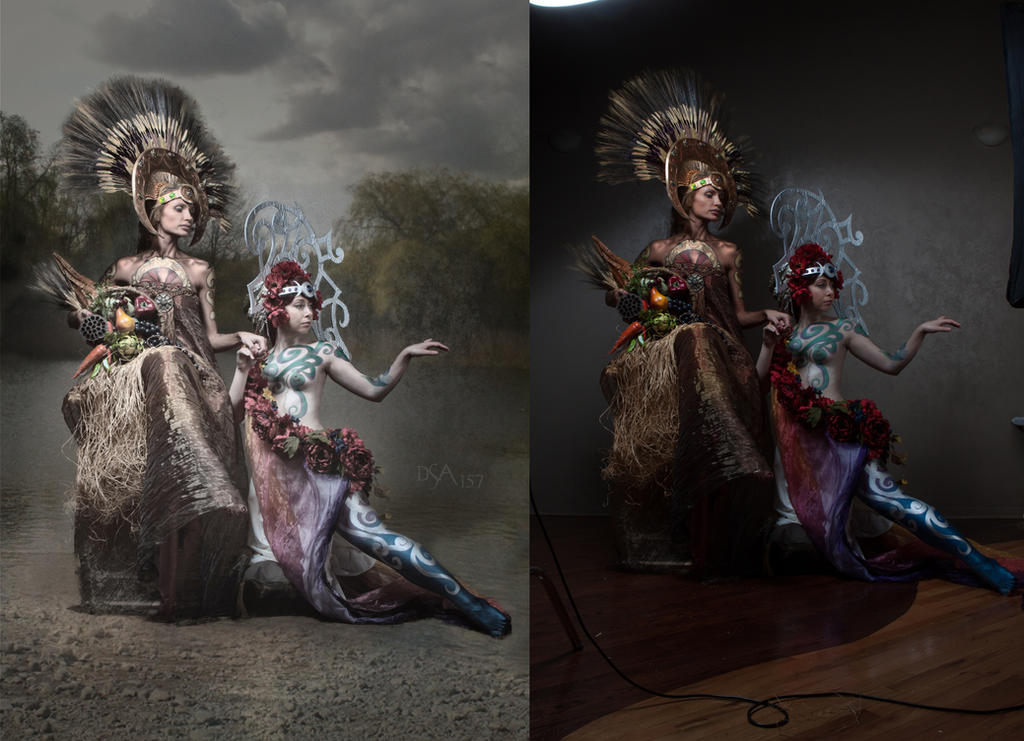 Demeter and Persephone - before and after by dsa157