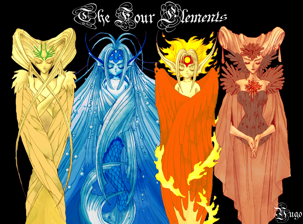 4 Elements Of Art : The four elements by y rk on deviantart