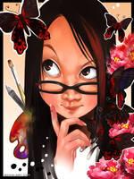 Self portrait by luciole