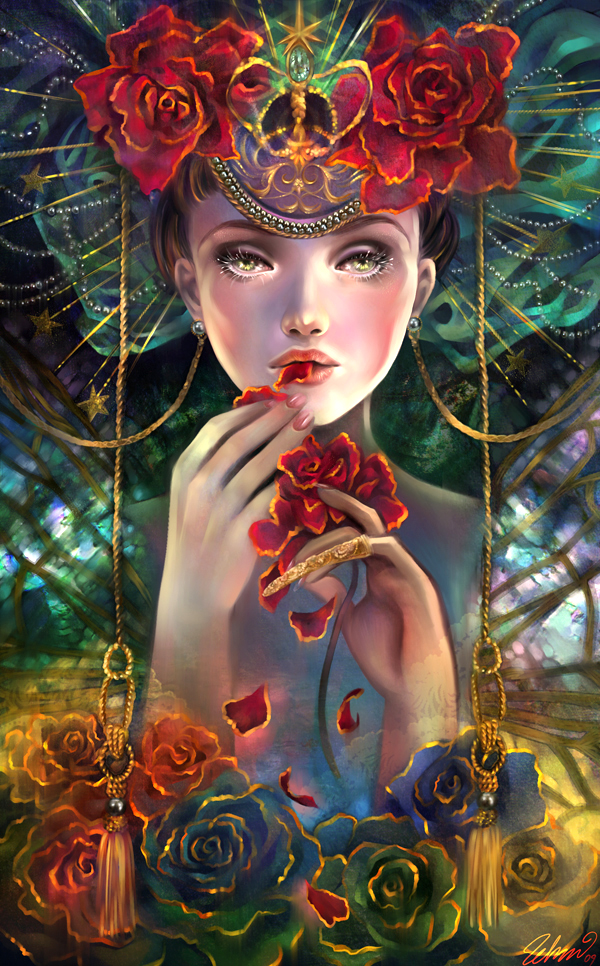 L'Inspiration The_Rose_Eater_by_luciole