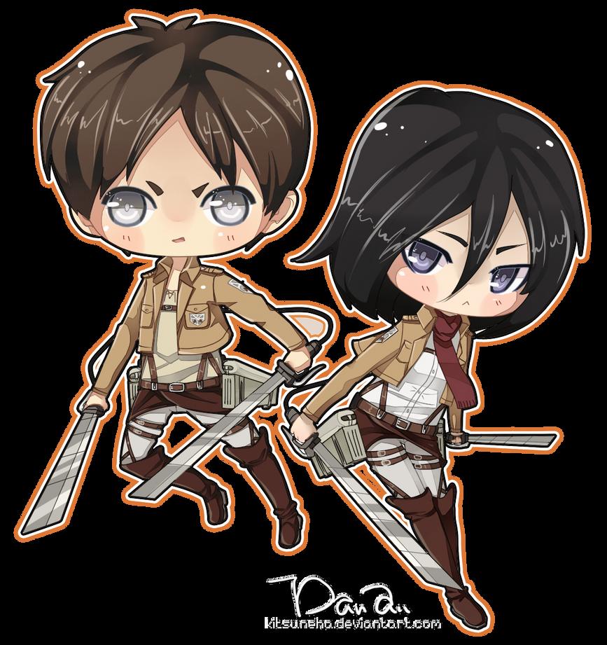 Eren Mikasa by kitsuneha
