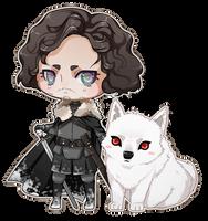 Jon Snow and Ghost by kitsuneha