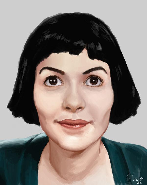 Audrey Tautou Amelie Poulain By Aomcesare On Deviantart