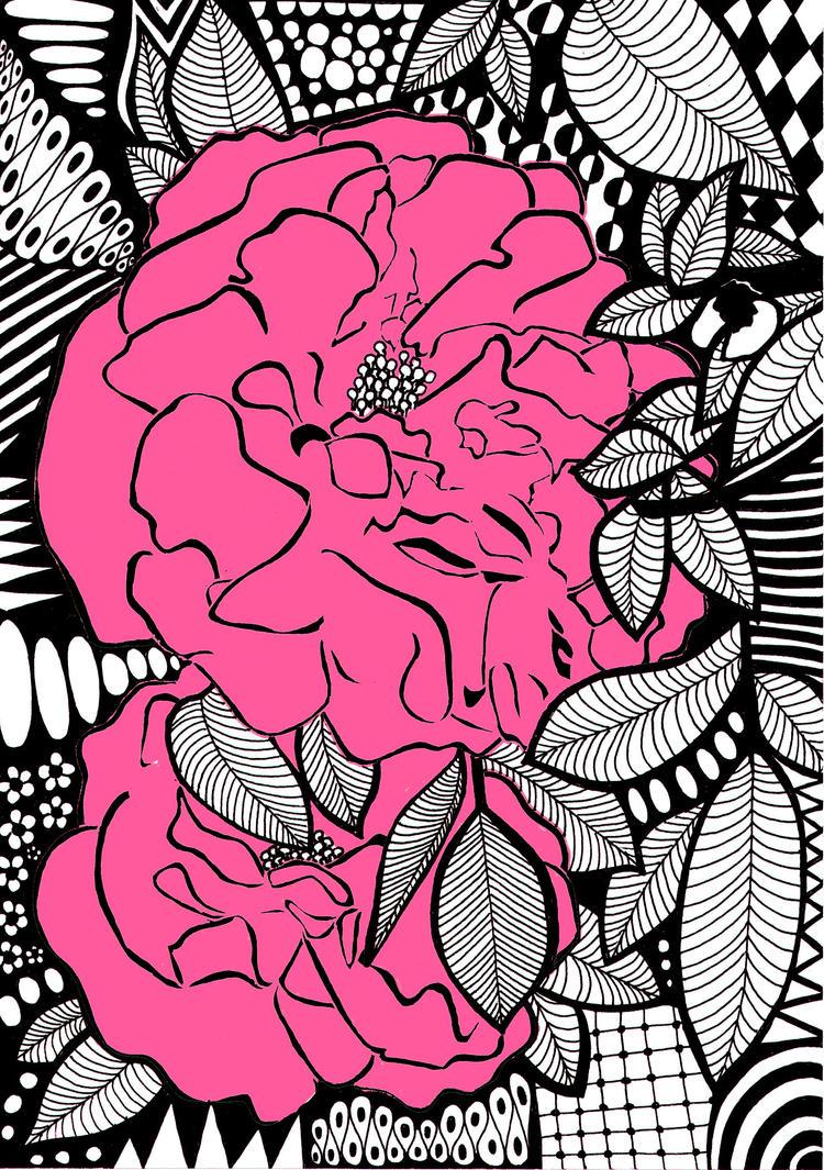 Grandmas Pink Roses by kodapops
