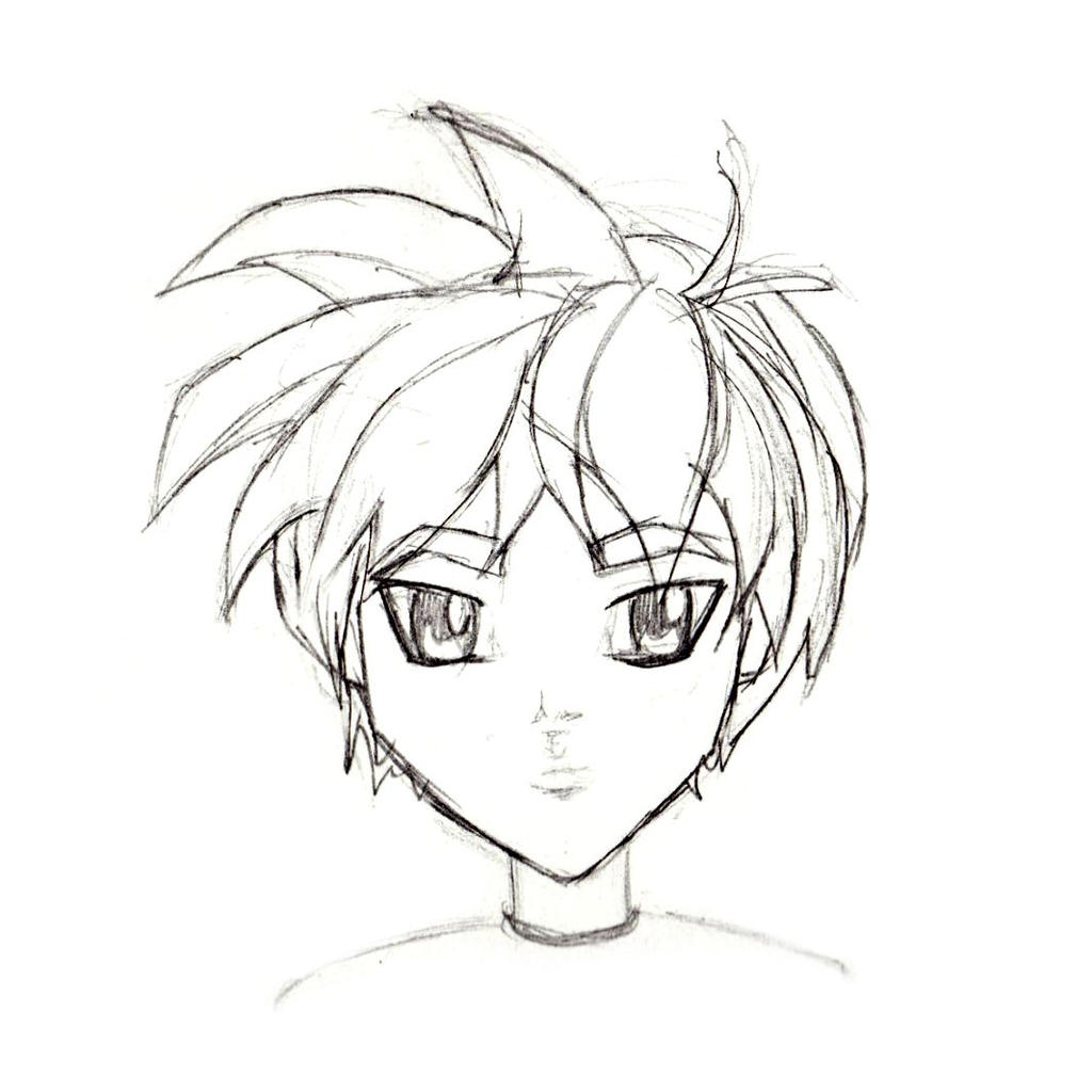 Manga Character Sketch Male I Child By Doodlesofnoodles