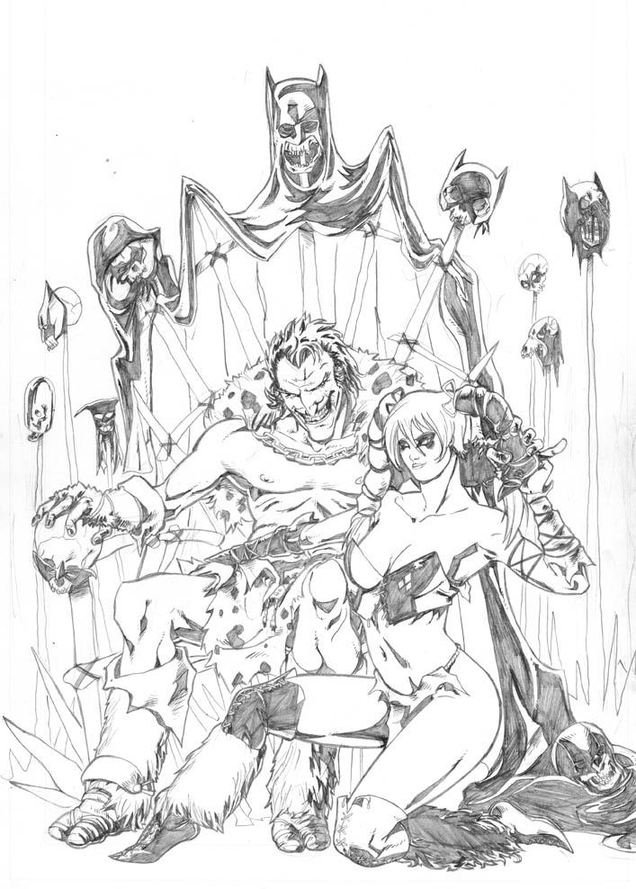 Barbarians Joker and Harley Quinn by diegomagno on DeviantArt