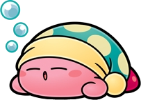 Sleeping Kirby by Whiskers82