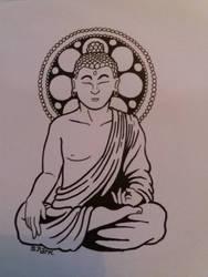 Buddha tattoo design by simonpark81