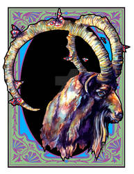 Decorative Goat Design