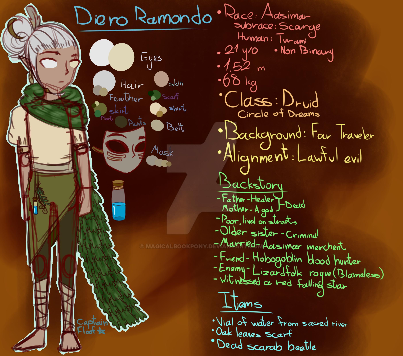Random DnD generator character by magicalbookpony on DeviantArt