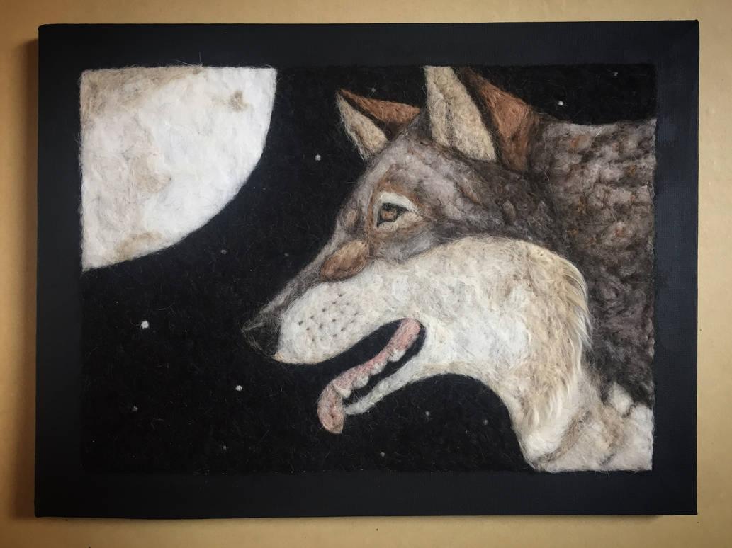 Stargazer' Dog Hair Wolf Wall Canvas FOR SALE by LittleWolfAnimalArt