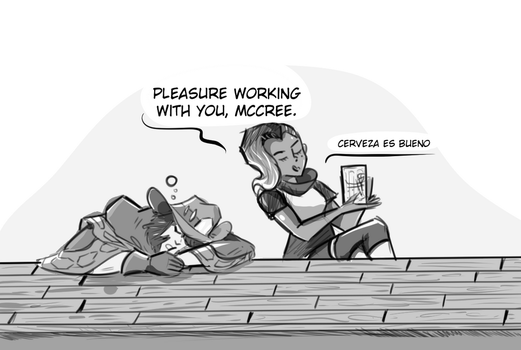 Pleasure Drinking With You, Mccree by ChrisTheBlue