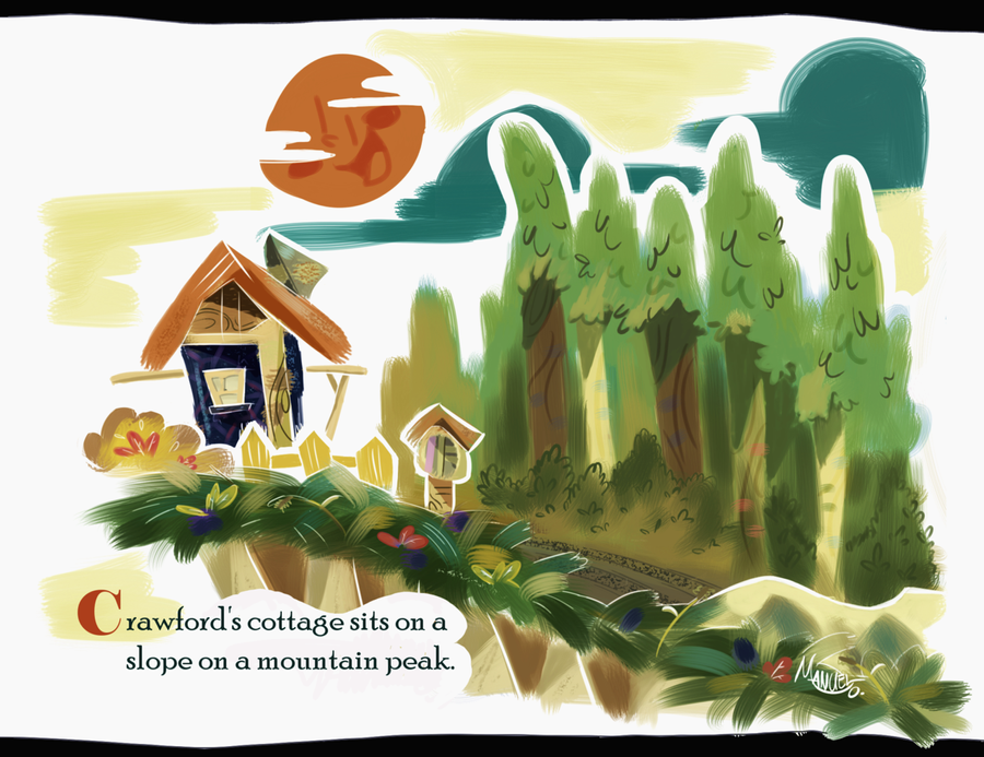 Crawford's Cottage-- Little Golden Books Tribute by TOON-STER