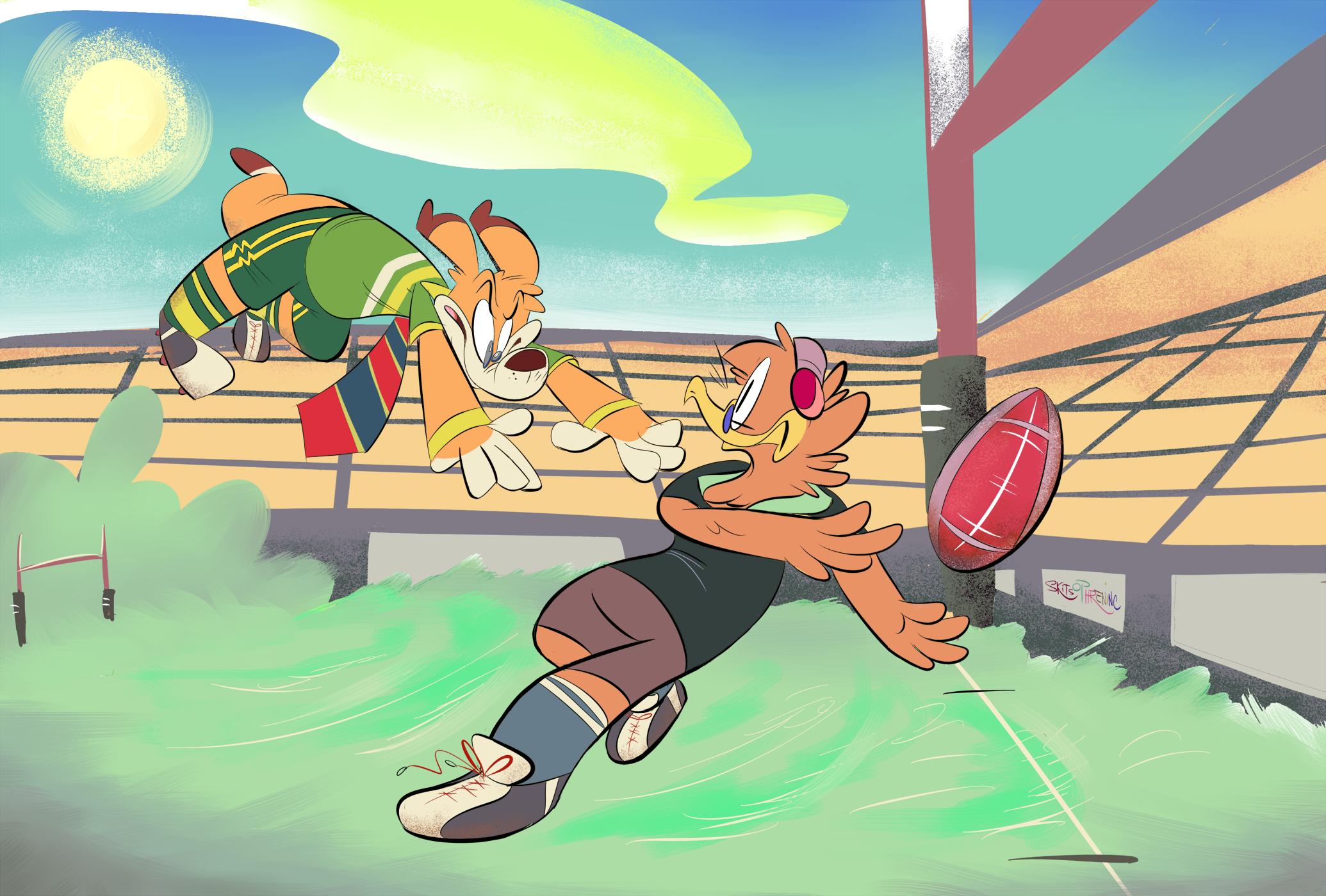 Rugby!-- KIWIS VS ROOS by SkitSTUDIOS