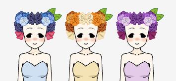 Flower Crowns- Kisekae by Chu-Mu