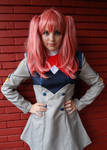 Miku from Darling in the FranXX cosplay