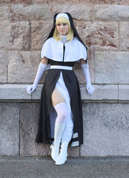 Iris the Nun cosplay from Fire Force