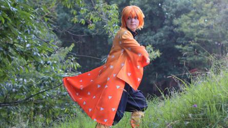 zenitsu cosplay from Kimetsu no yaiba