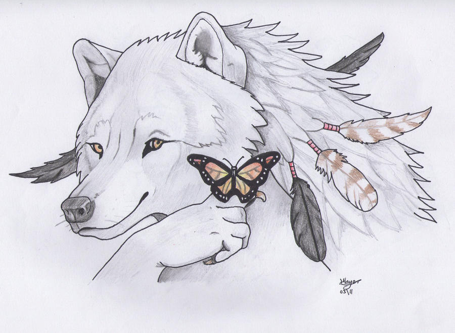 Butterfly Wolf by 100Teardrops