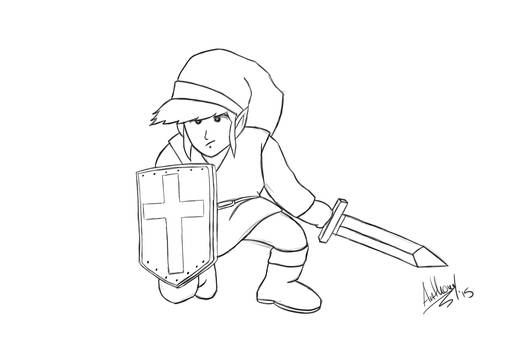 Link: Inspired by the original Legend of Zelda