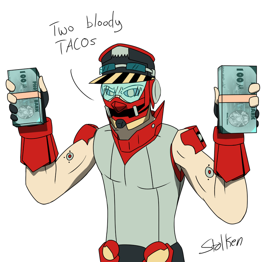 Two Bloody Tacos by Stolken