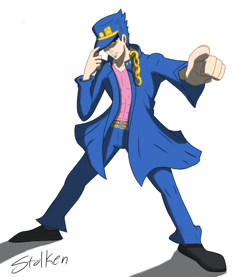 Jotaro's Stance No Background by Stolken