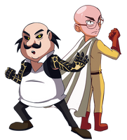 Motu Patlu One Punch Man by Stolken